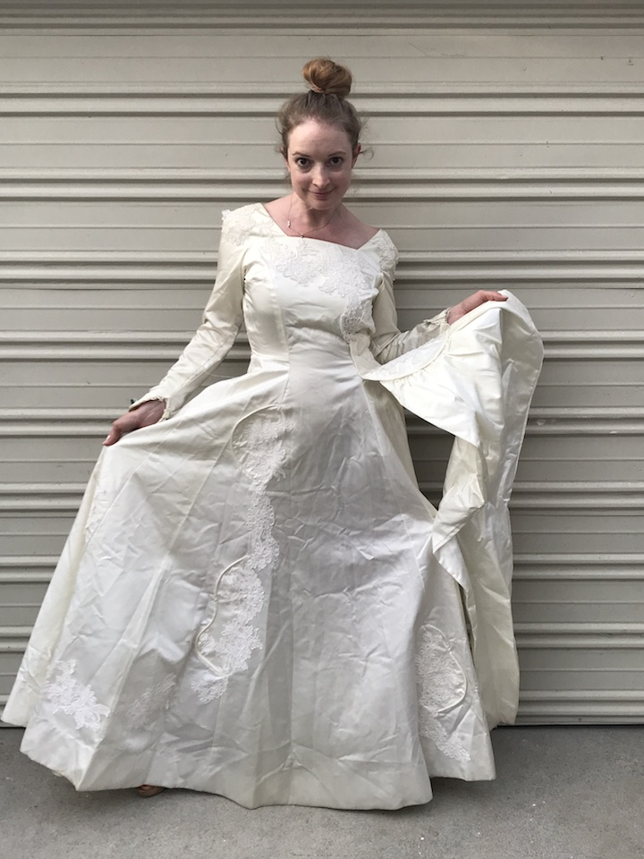 NDAD - Day 25 - Vintage Wedding Dress 3