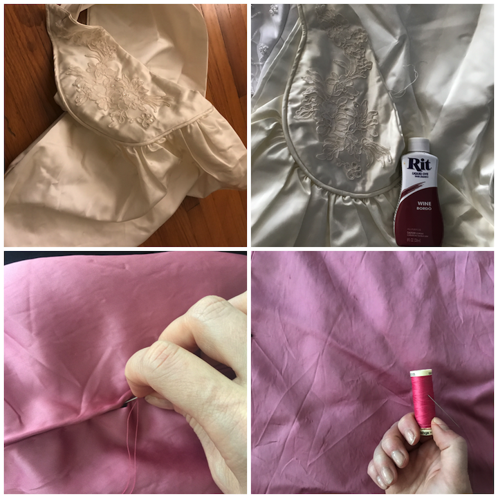 NDAD - Day 25 - Vintage Wedding Dress Upcycle Steps