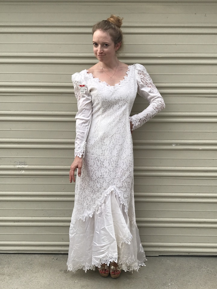 NDAD - Day 24 - Vintage Wedding Dress