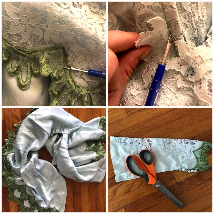 NDAD - Day 24 - Dyed Vintage Upcycled Wedding Dress DIY