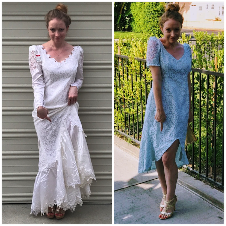 NDAD - Day 24 - Dyed Vintage Upcycled Wedding Dress 5