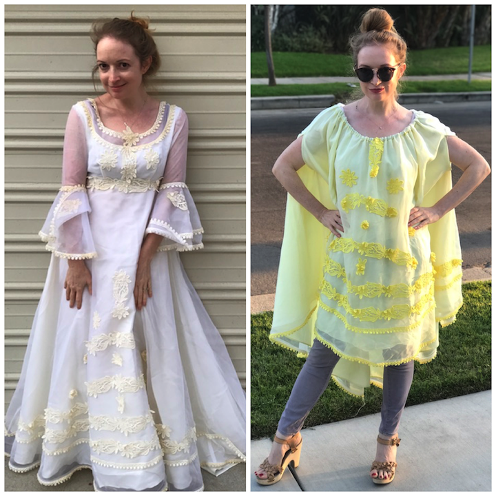 NDAD - Day 21 - Vintage Wedding Dress Before/After