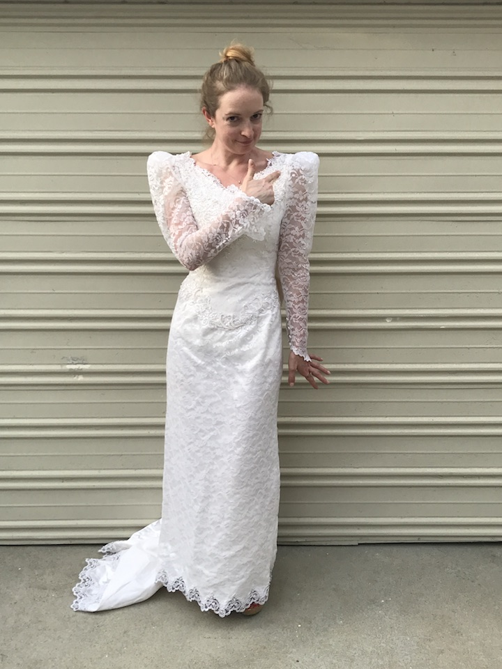 NDAD - Day 19 - Vintage Wedding Dress 4
