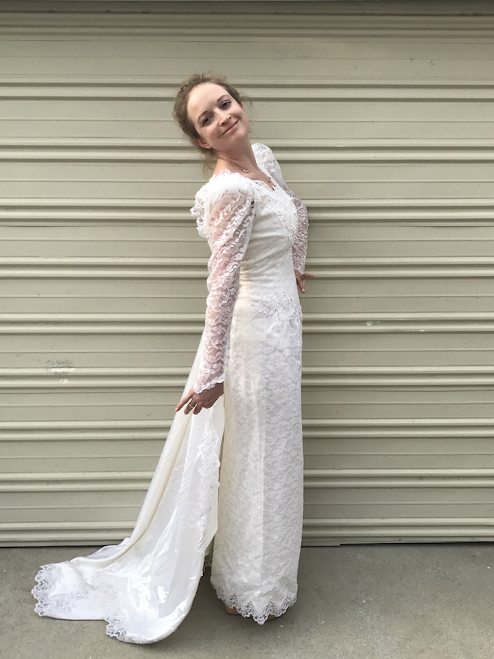 NDAD - Day 19 - Vintage Wedding Dress 5