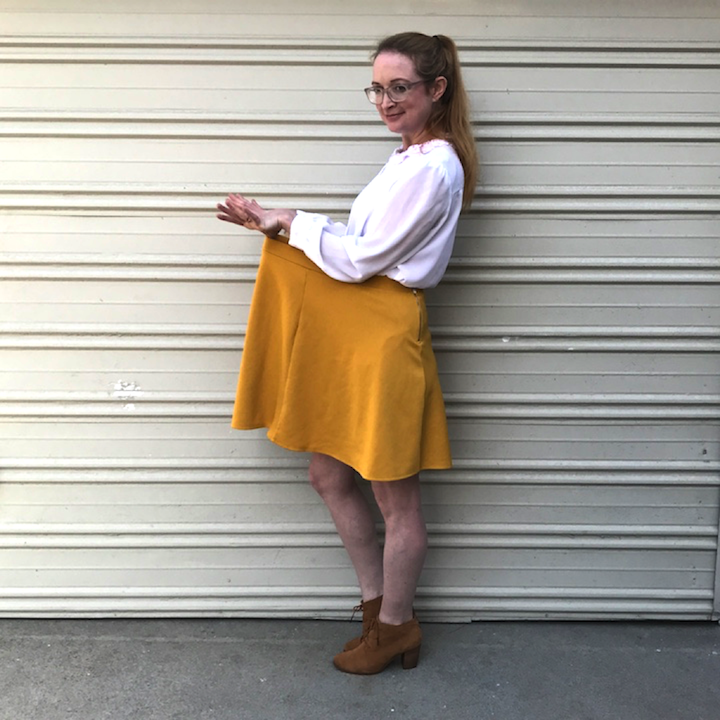 DIY Mustard Skirt - Before