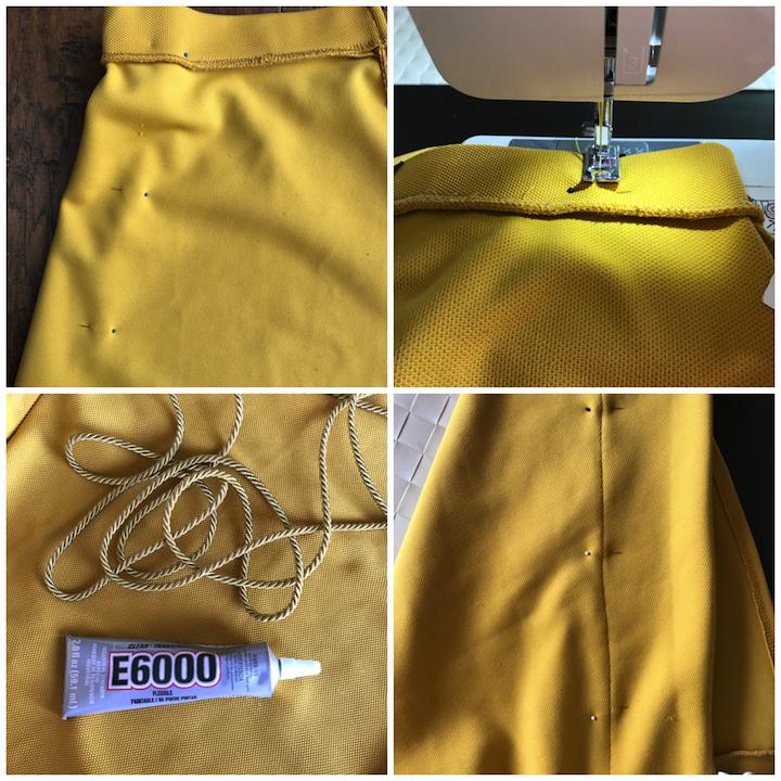 Mustard Skirt DIY steps