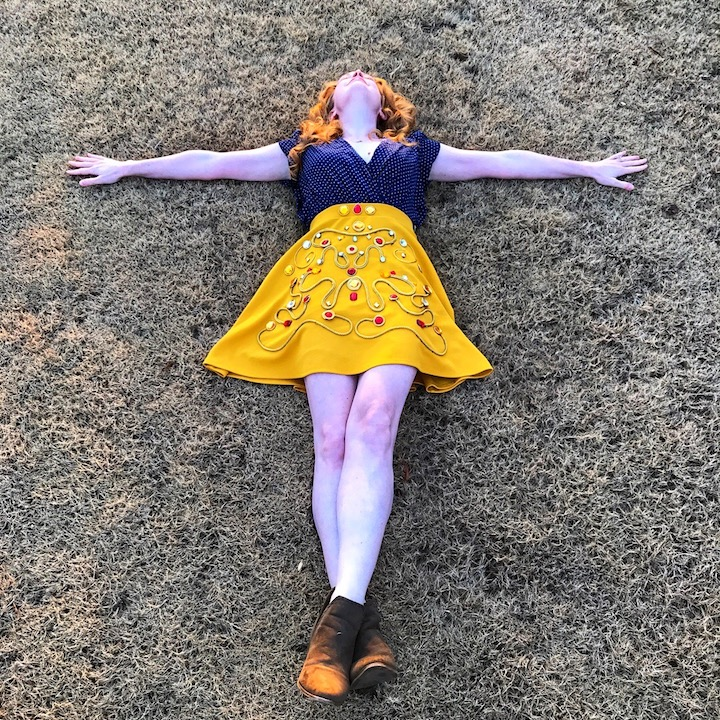 DIY Mustard Skirt
