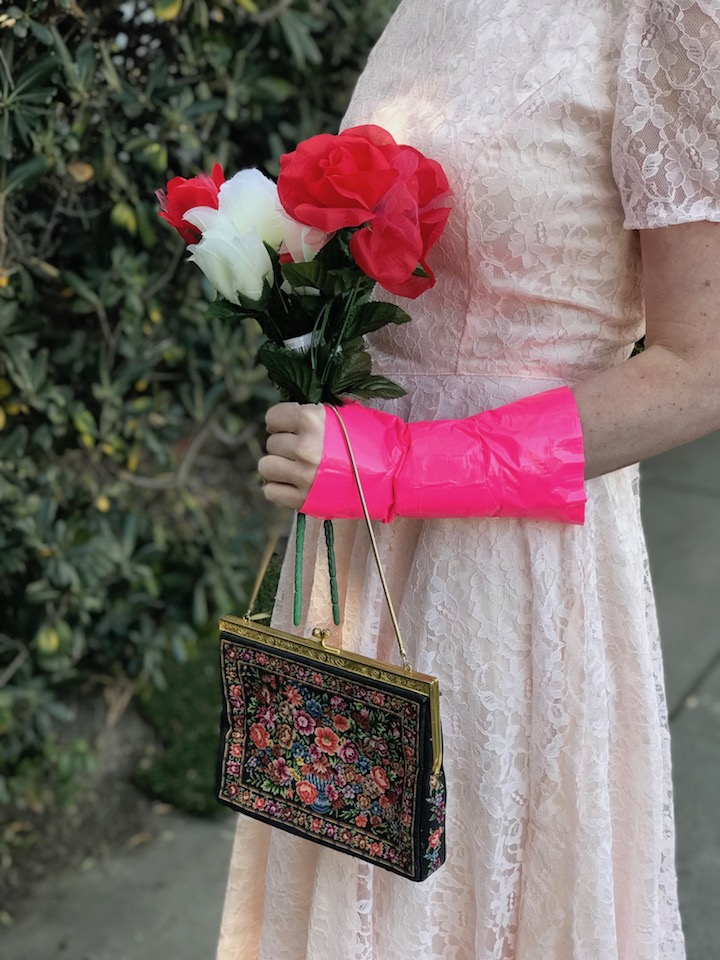 DIY hot pink cast