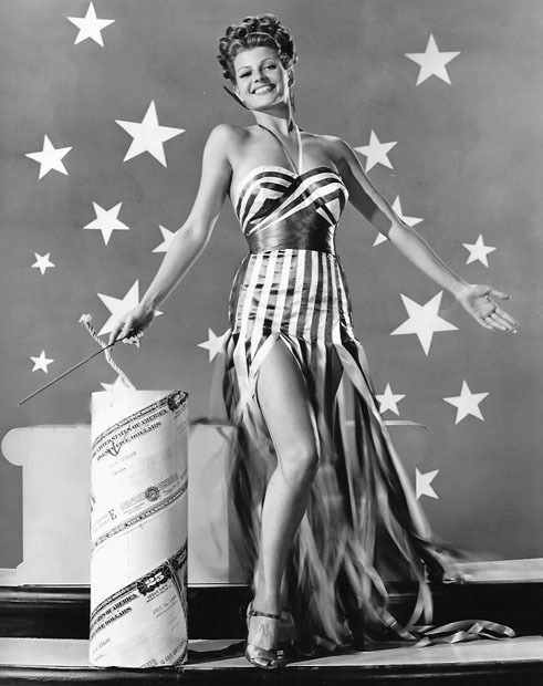 Rita Hayworth & Firecrackers