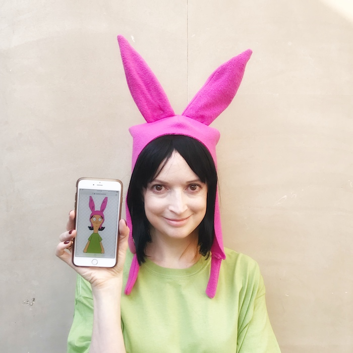 293bfc7559f DIY  Halloween Bob s Burgers Louise Belcher Costume — New Dress A Day
