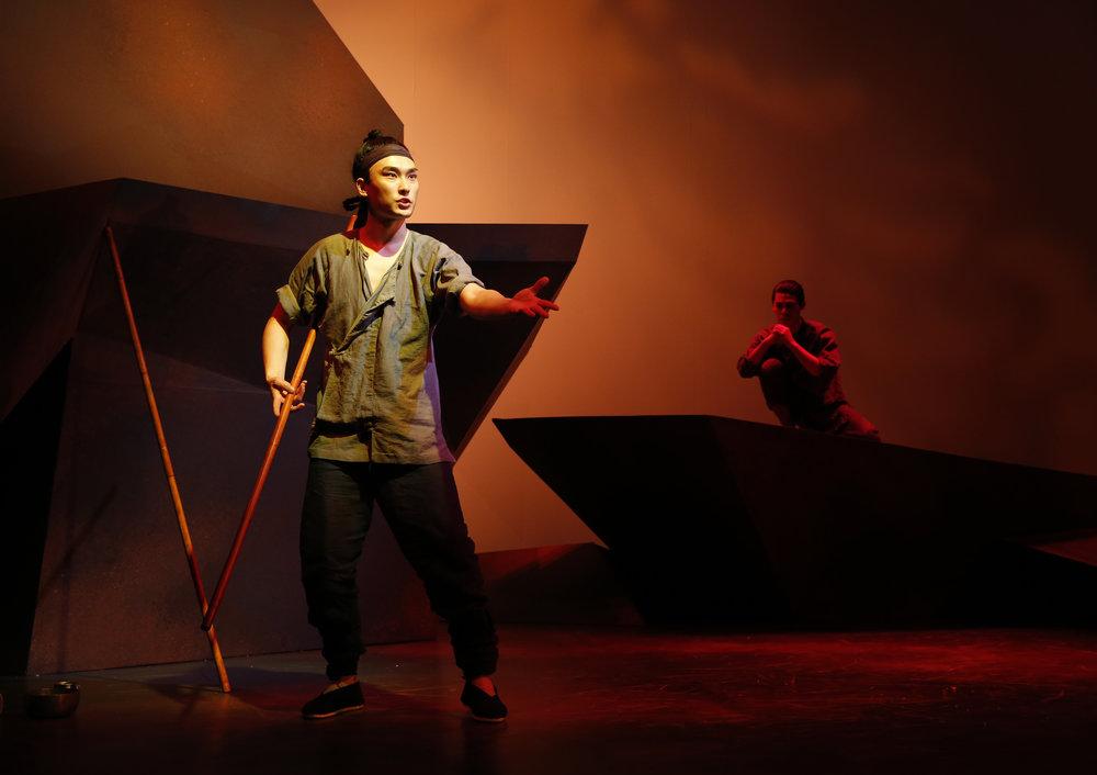 William Yuekun Wu and Ruy Iskandar. Photo by Joan Marcus for  Signature Theatre, 2013