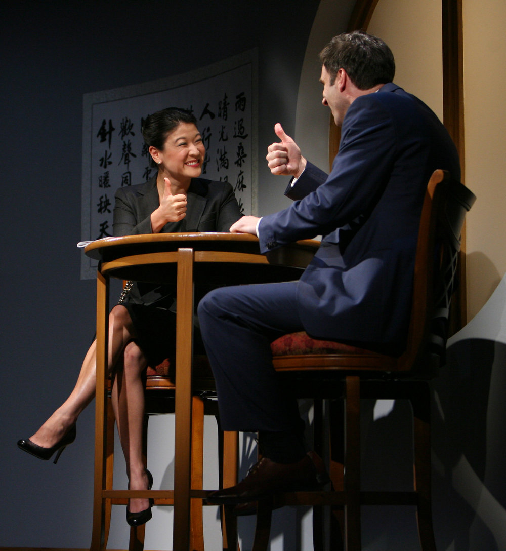Jennifer Lim and James Waterston. Photo by Eric Y. Exit for the Goodman Theatre, 2011