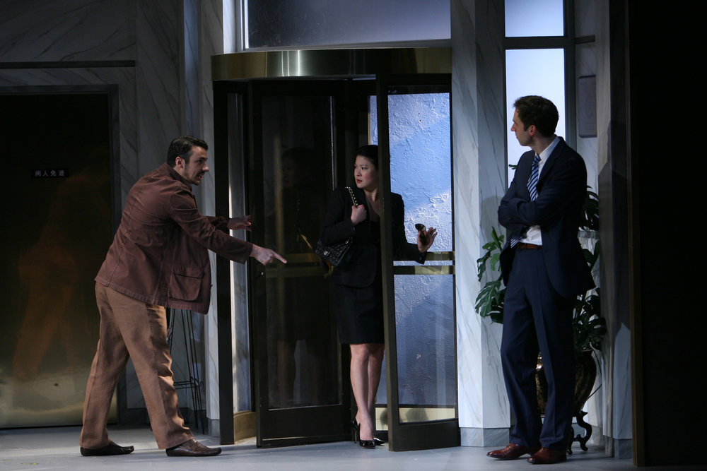 Stephen Pucci, Jennifer Lim and James Waterston. Photo by Eric Y. Exit for the Goodman Theatre, 2011