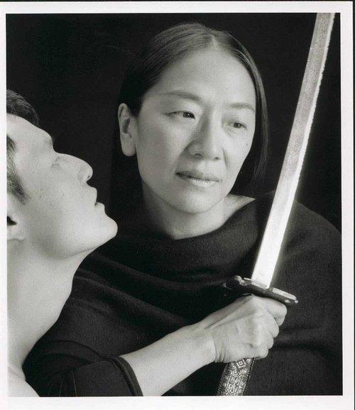 Masanari Kawahara 和Maria Chen 在幕表演剧团演出中, 1996年