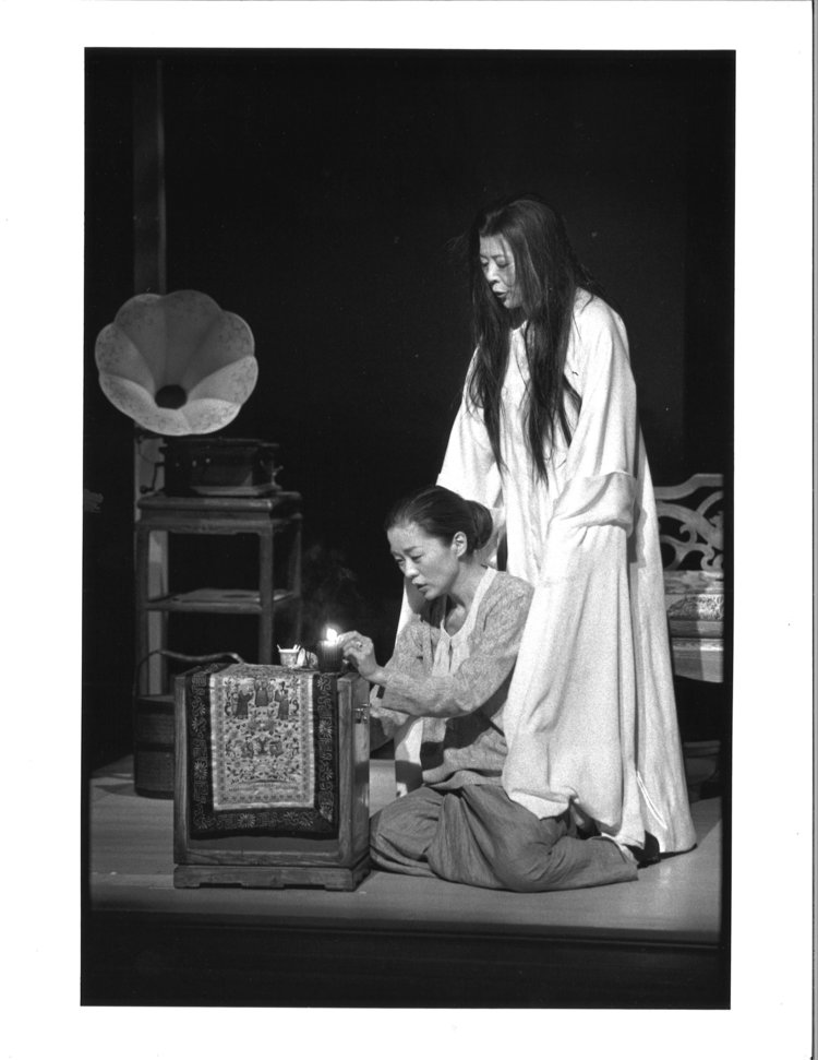 Lianna Pai 和Tsai Chin。摄影:Michal Daniels,纽约公共剧院,1996年。