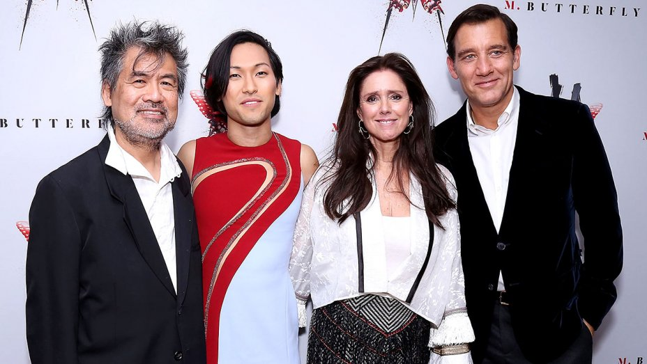 Bruce Glikas/Bruce Glikas/FilmMagic - From left, playwright David Henry Hwang, Jin Ha, director Julie Tamor and Clive Owen