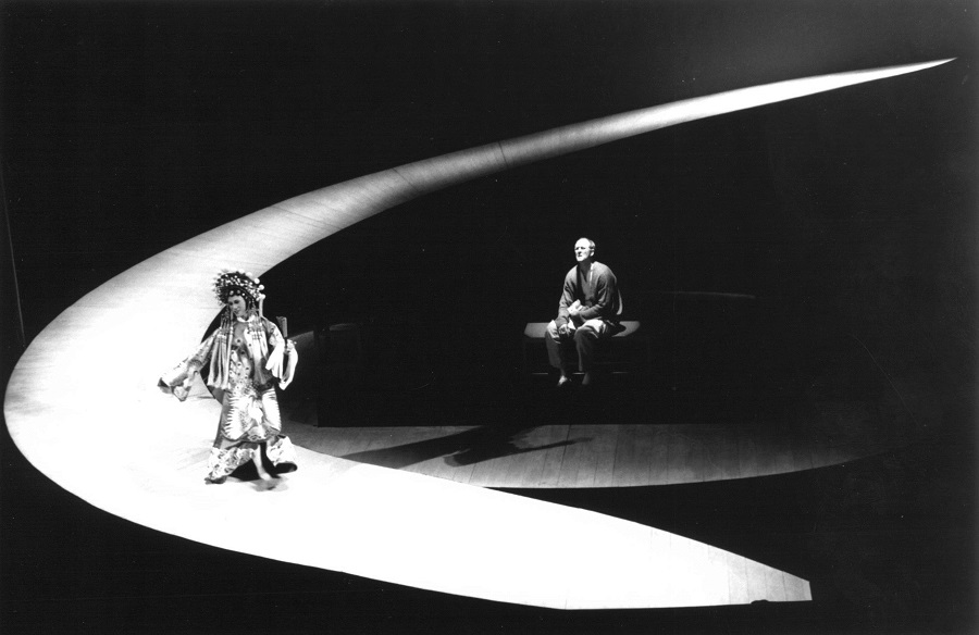 "BD Wong and John Lithgow in the original 1988 Broadway staging of ""M. Butterfly."""