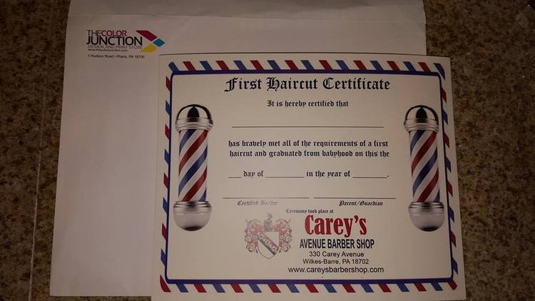 First haircut certificates for your little one now available ...