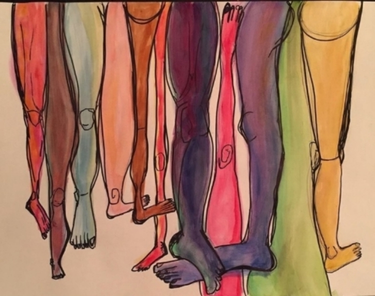 water color legs