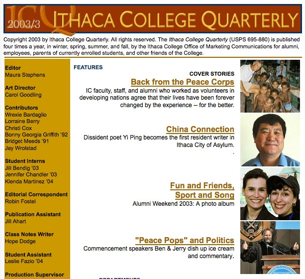 Lorraine Berry in Ithaca College Quarterly
