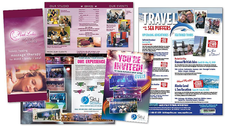 ambersands brochures mailers design ormond beach daytona