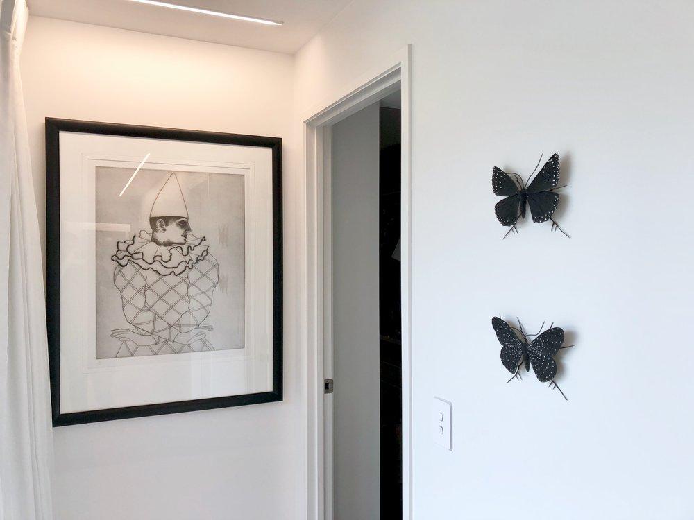 bronze moths by Elizabeth Thompson