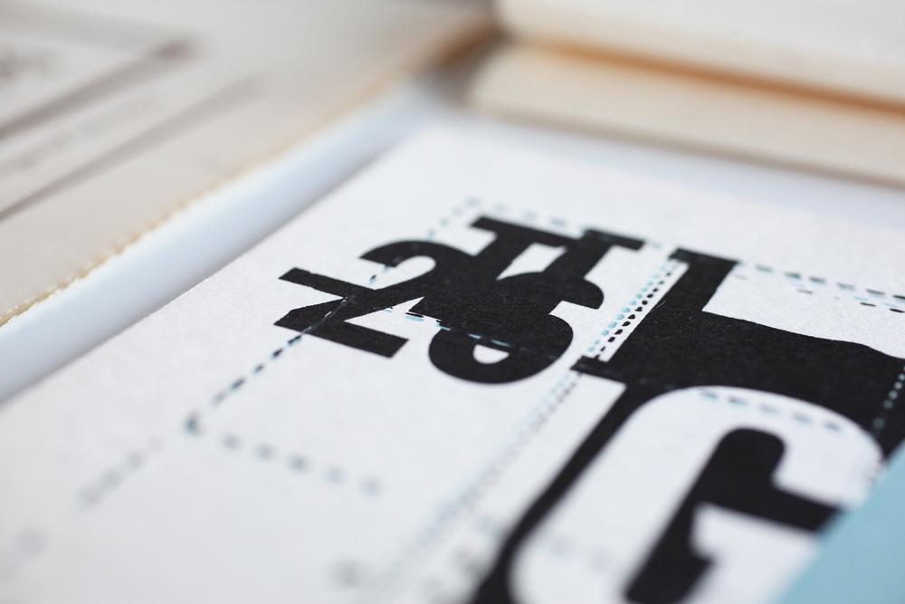 T26 Type Foundry boxset, Gazz postcard detail.