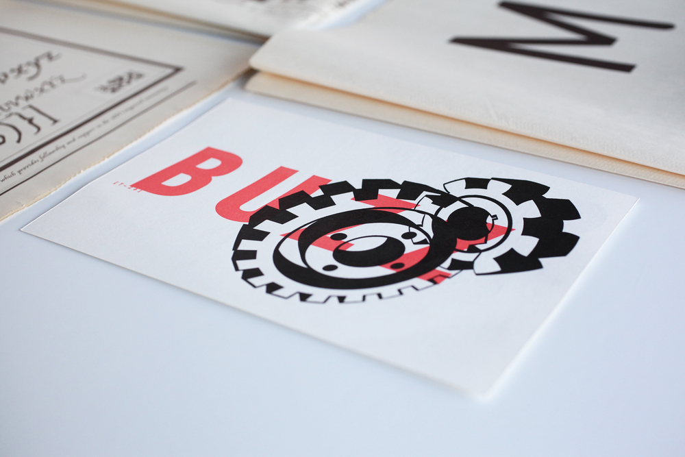 T26 Type Foundry boxset, Buzz postcard.