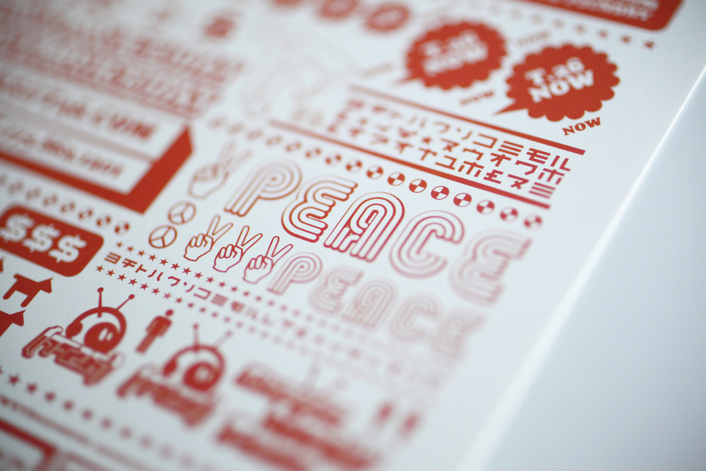 "T26 Type Foundry boxset, ""Hello"" postcard detail."