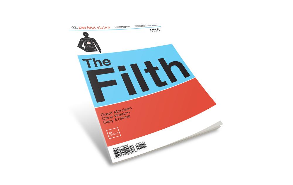 "Filth comic book cover #2. ""Perfect Victim""."