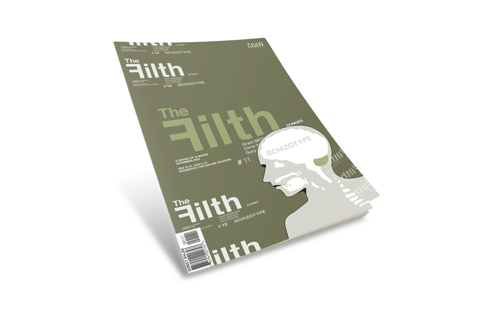 "Filth comic book cover #11. ""Schizotype""."