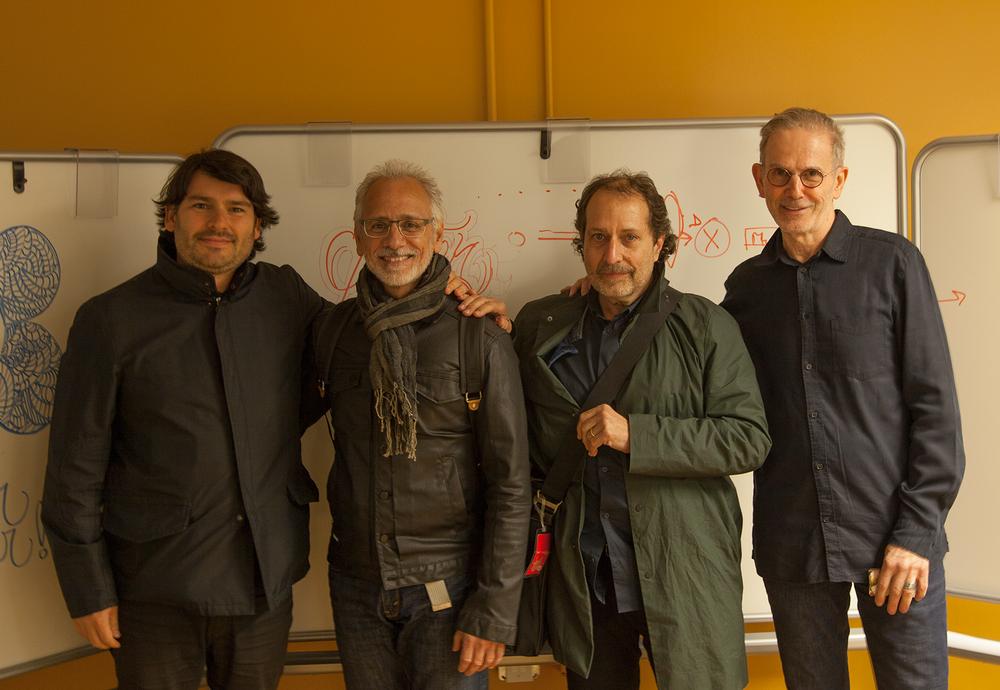 Iker Gil, Carlos Segura, Rick Valicenti and Ron Kovach.