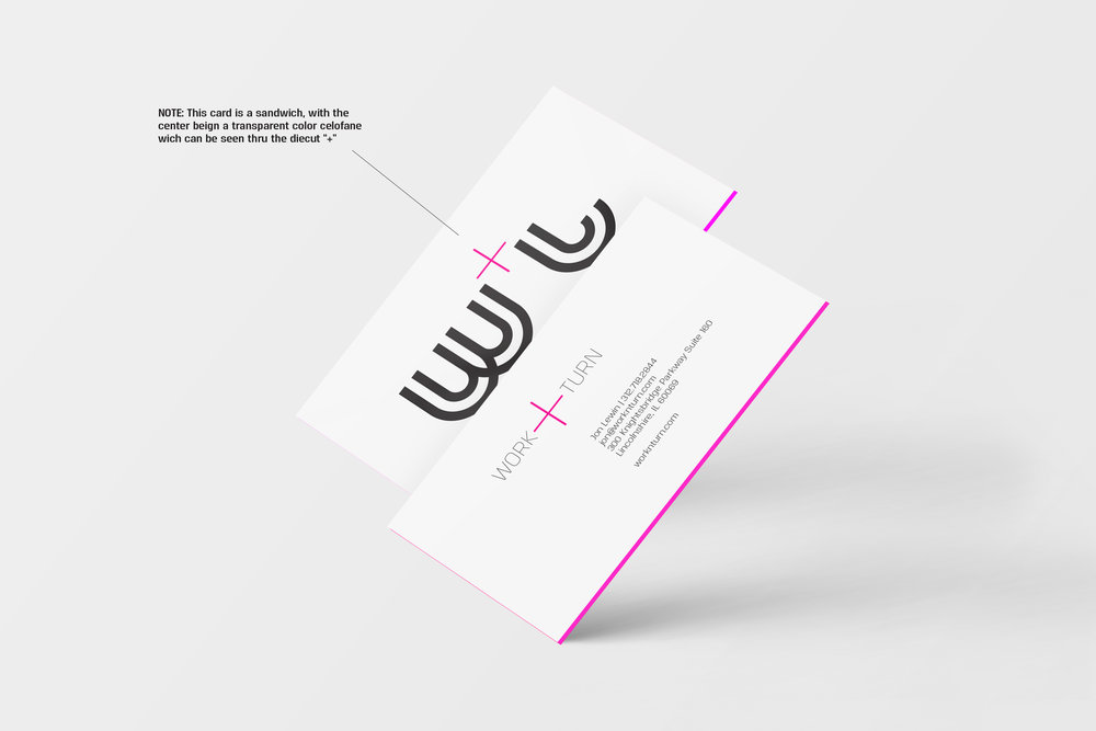Work+Turn - EXPLORATION #1 - business cards