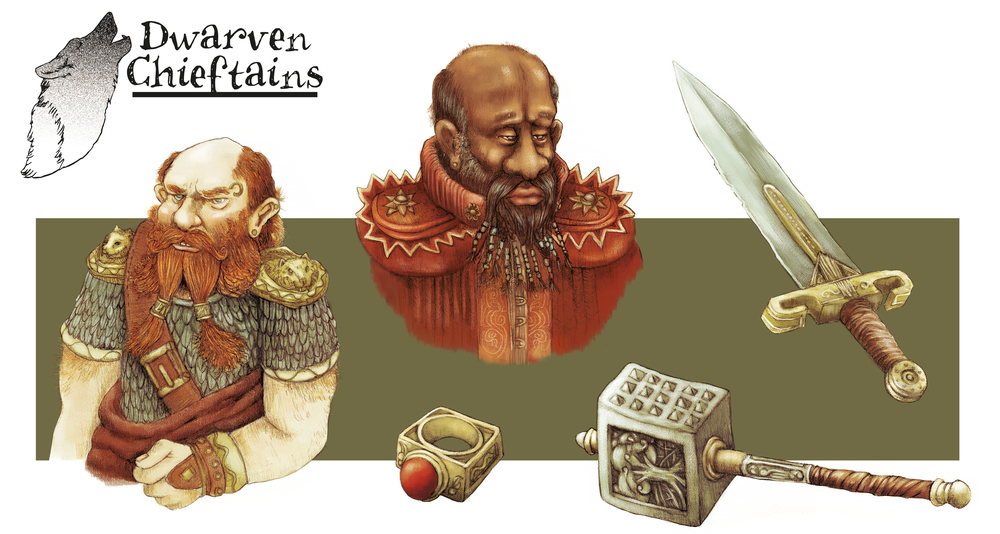 Dwarf Chieftains concept art