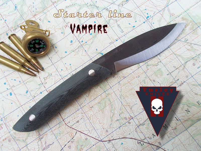 "The Vampire: Blade about 4"" , handle about 4 1/2"""