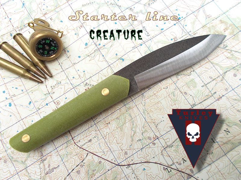 "The Creature (as in From the Black Lagoon): Blade about 3 7/8"" , handle about 4 1/2"""
