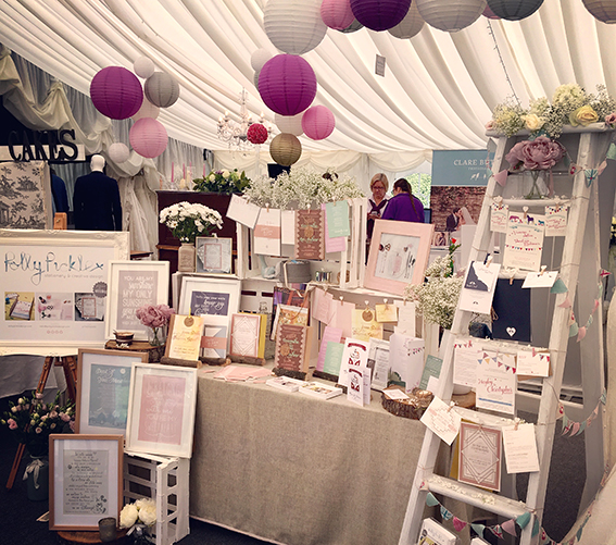 Polly Pickle exhibiting at Glemham Hall Truly Vintage Fair