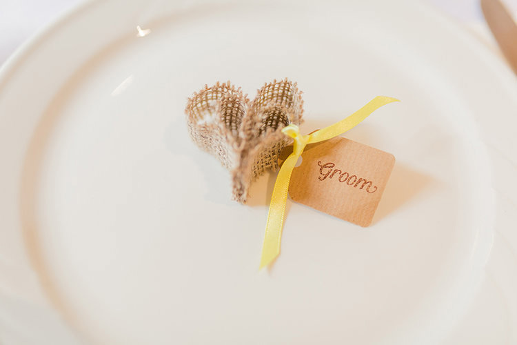 Bespoke rustic name tags ~ 'Groom'