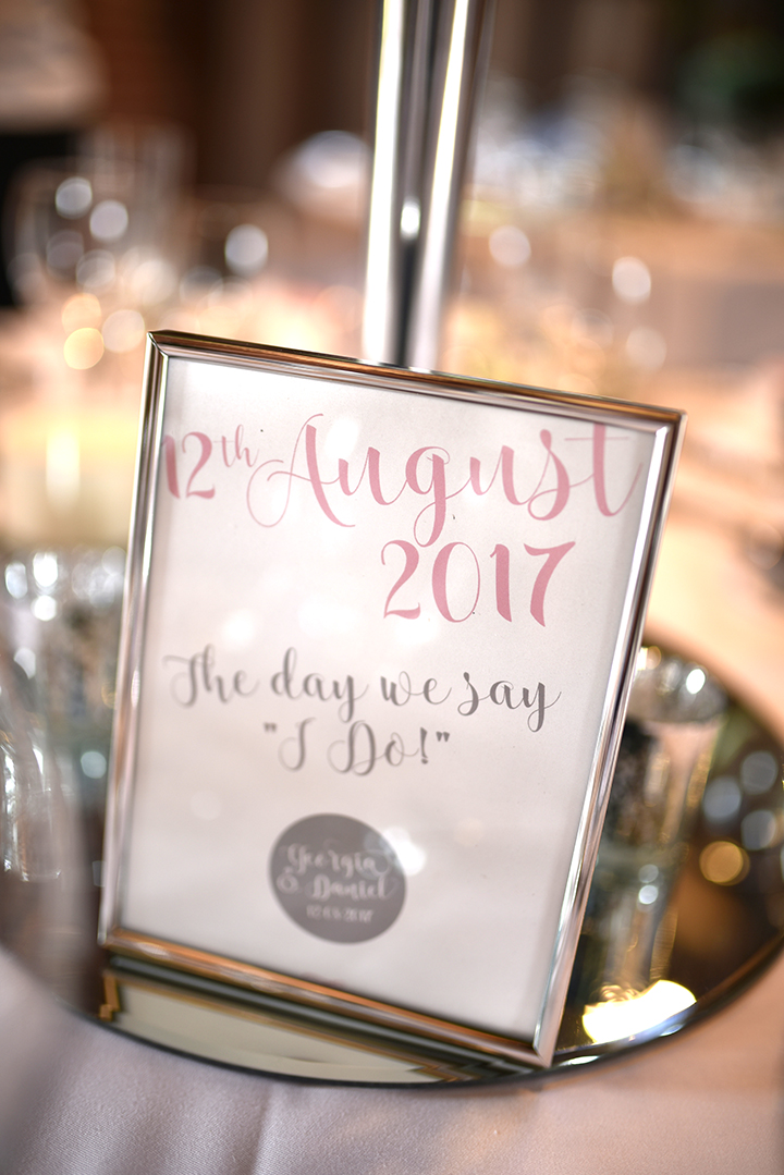 'Understated Elegance' personalised table name prints