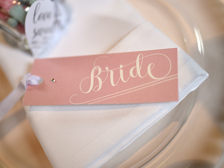 'Understated Elegance' individual name tags ~ Bride