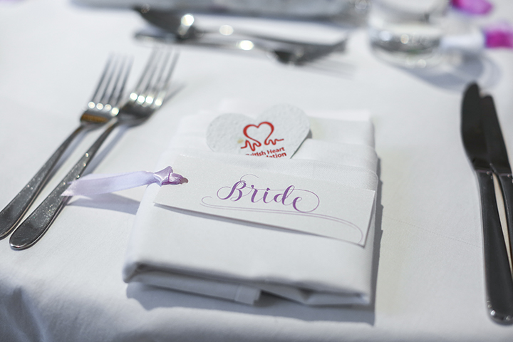 'Understated Elegance' individual name tags hand finished with ribbon