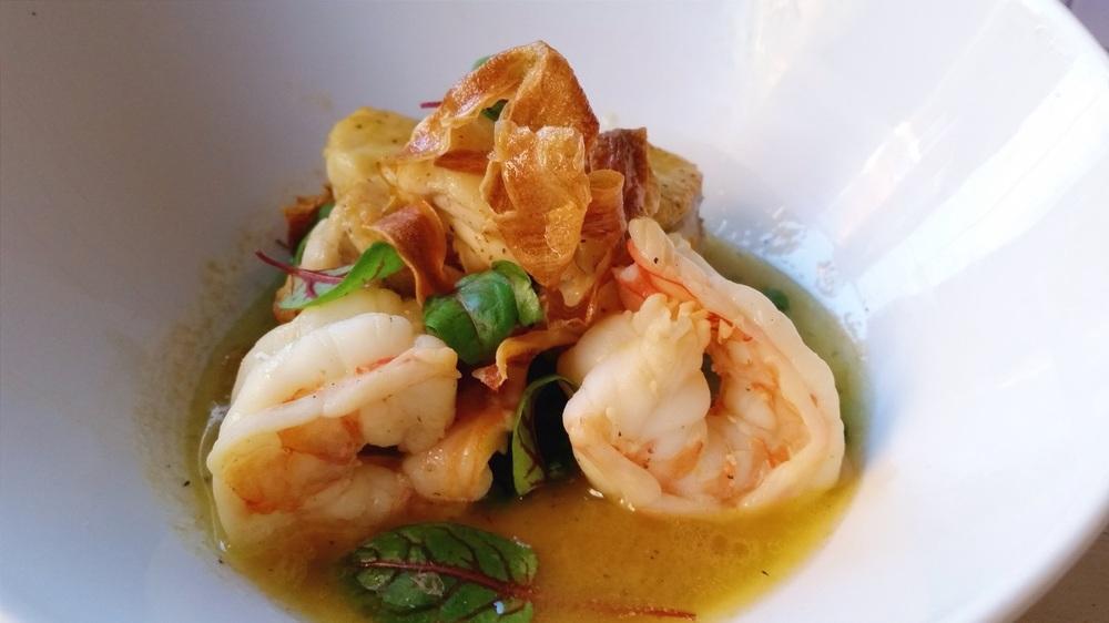Monkfish and Shrimp