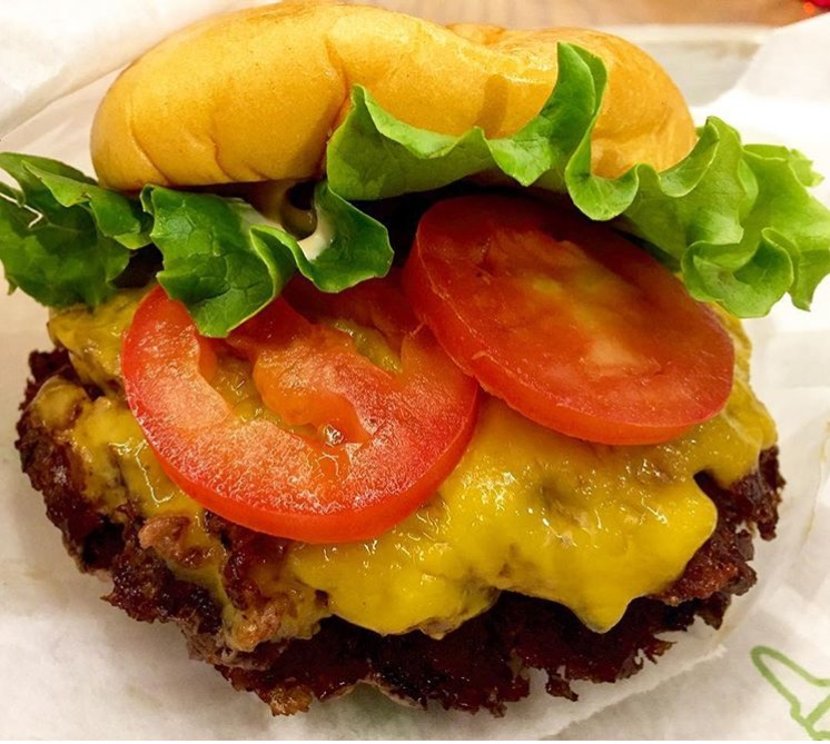Double Shack Burger. Photo by Kelly Peterson.