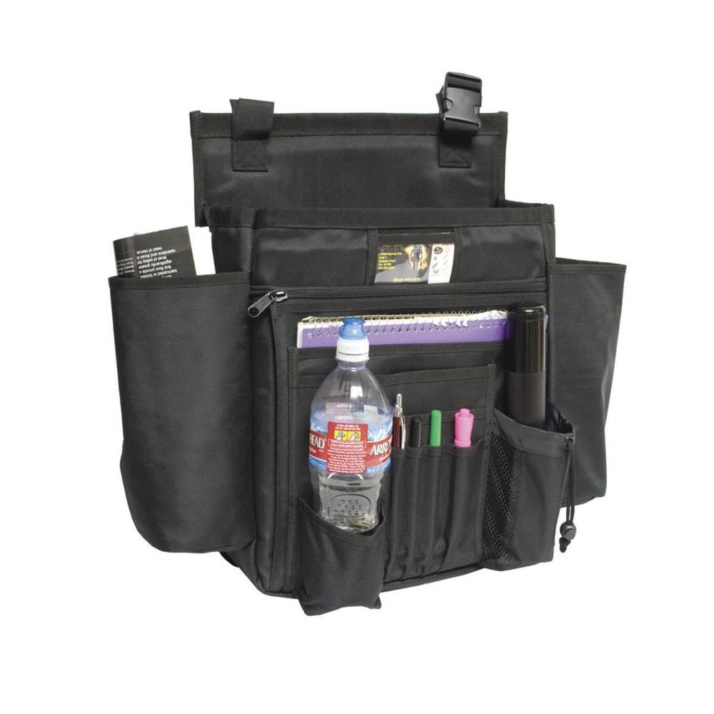 "Your patrol car is your office: Keep it organized! This one even has a ""cooler"" pouch to keep your lunch cold."