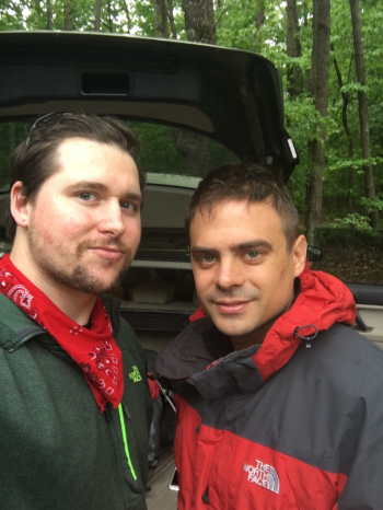 (Nick White (me) left) and Josh N. Right, on our annual Wilderness Excursion. 2016. at Virgin Falls, in Sparta, TN.