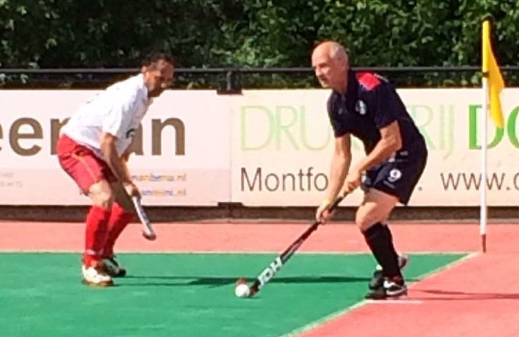 Ian playing for the US Masters team vs. Germany, 2014 World Cup, Rotterdam