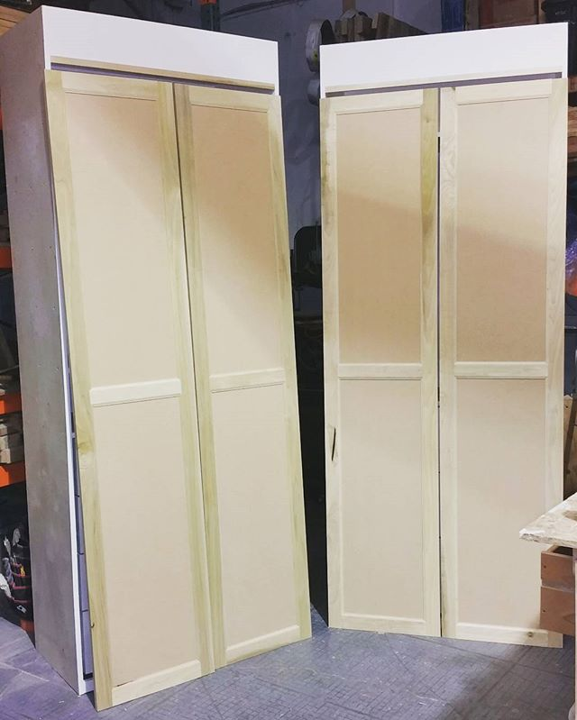 Dry fit doors ready for glue and screw.