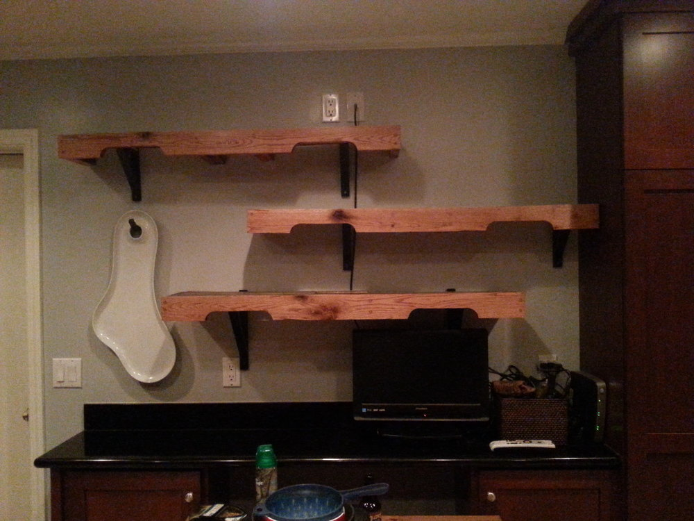 Custom Kitchen Shelving