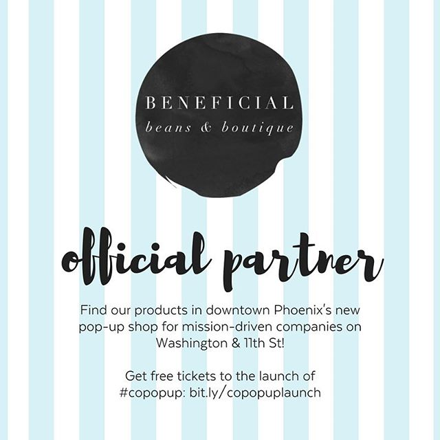 Our products are made to change the world. Now, SANS is 1 of 25 companies featured in Beneficial Beans & Boutique, a social impact pop-up shop in #dtphx! Come to our launch Nov. 3: bit.ly/copopuplaunch #copopup