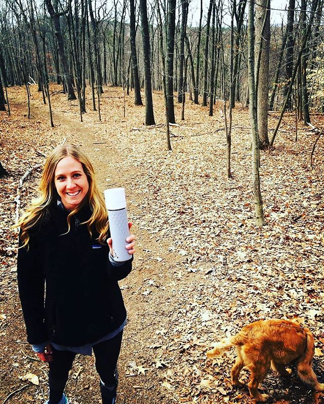 Take your fresh smoothie or juice on your next hike